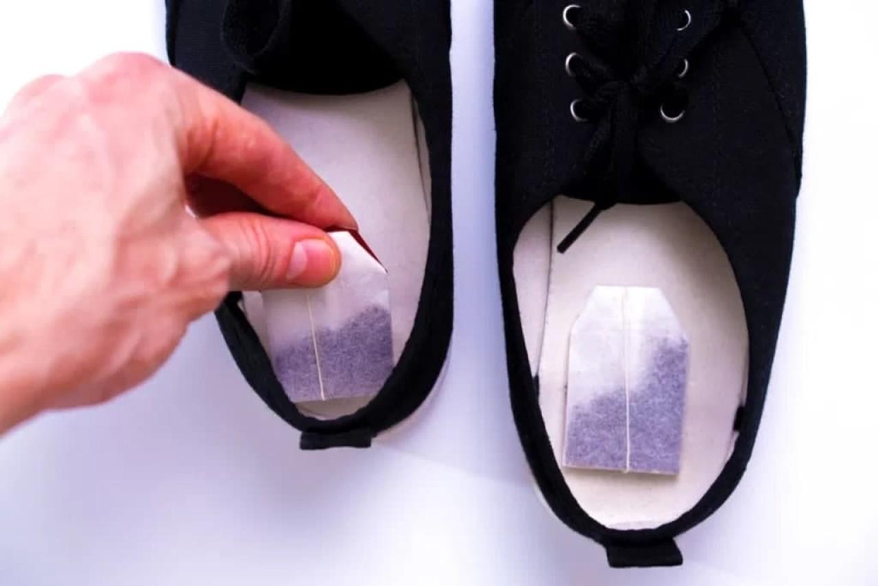 Чайные пакетики в обуви